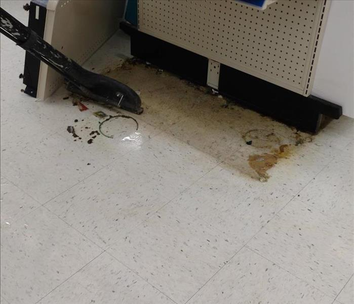 Walgreen's sewer damage clean up. After